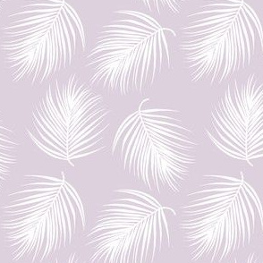 "4"" Palm Leaves - White with Lilac Background"