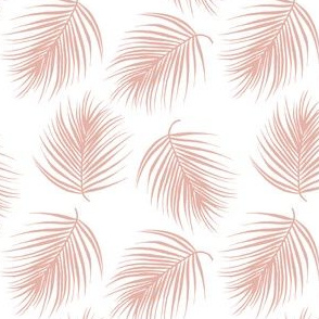 "4"" Palm Leaves - Muted Dark Pink"