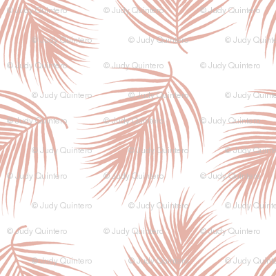 "8"" Palm Leaves - Muted Dark Pink"