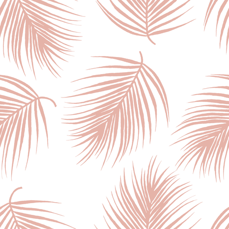 "8"" Palm Leaves - Muted Dark Pink fabric by shopcabin on Spoonflower - custom fabric"