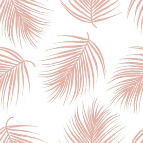 """8"""" Palm Leaves - Muted Dark Pink"""