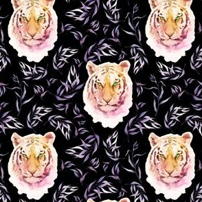 """4"""" Boho Lilac Tiger and Branches - Black"""