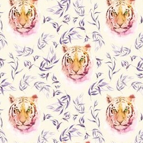 """4"""" Boho Lilac Tiger and Branches - Ivory"""