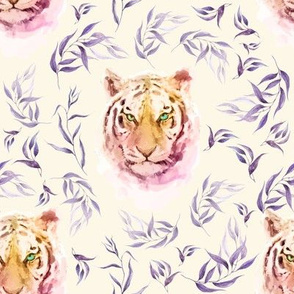 """8"""" Boho Lilac Tiger and Branches - Ivory"""