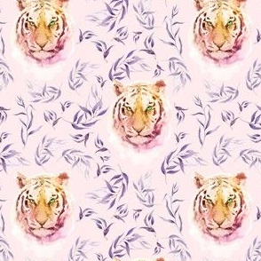 """4"""" Boho Lilac Tiger and Branches - Pink"""