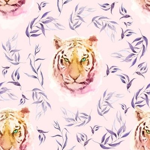 """8"""" Boho Lilac Tiger and Branches - Pink"""