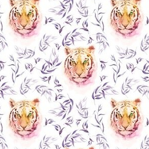 """4"""" Boho Lilac Tiger and Branches - White"""