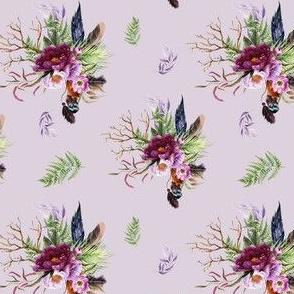 """4"""" Boho Lilac Tiger Florals - Lilac"""