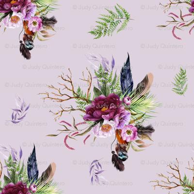 """8"""" Boho Lilac Tiger Florals - Lilac"""