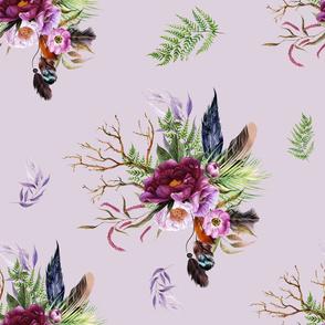 """21"""" Boho Lilac Tiger Florals - Lilac"""