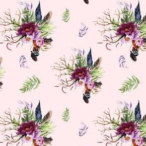 "4"" Boho Lilac Tiger Florals - Pink"
