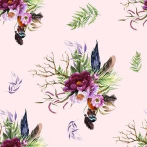 "8"" Boho Lilac Tiger Florals - Pink"