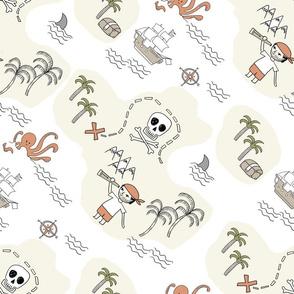 pirate map treasure maps pirate quilt fabric nursery