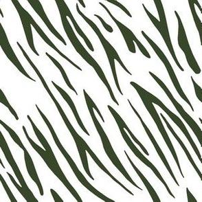 "6"" Tiger Stripes - Dark Green"