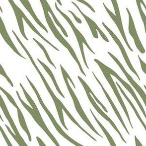 """6"""" Tiger Stripes - Light Green"""