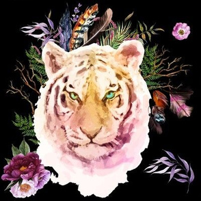 "8"" Boho Lilac Tiger - Black"