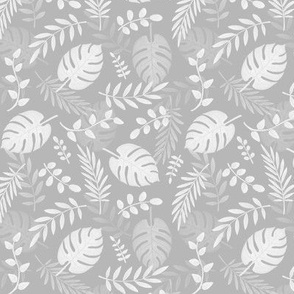 Leafy pattern light grey