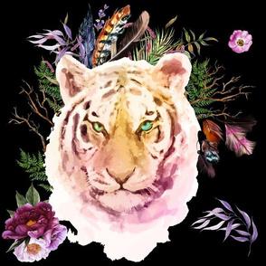 "14"" Boho Lilac Tiger - Black"