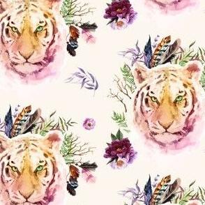 "4"" Boho Lilac Tiger - Ivory"