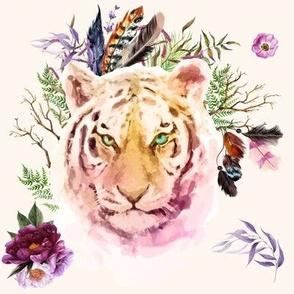 "8"" Boho Lilac Tiger - Ivory"