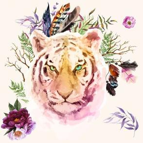 "14"" Boho Lilac Tiger - Ivory"