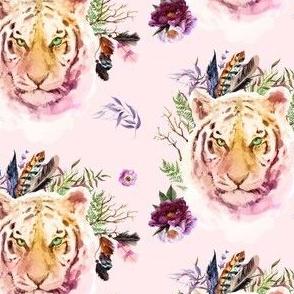 "4"" Boho Lilac Tiger - Pink"
