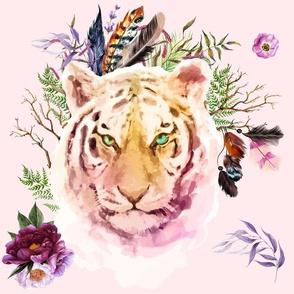 "14"" Boho Lilac Tiger - Pink"