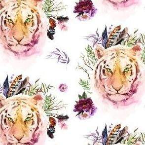 "4"" Boho Lilac Tiger - White"