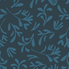 Simple leaf [dark blue]