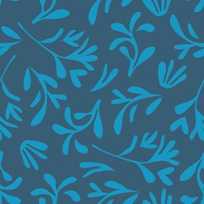 Simple leaf [denim blue]