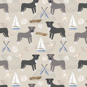 pitbull coastal themed dog breed pet fabric