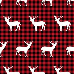 buffalo plaid deer trees deer deer silhouette christmas deer