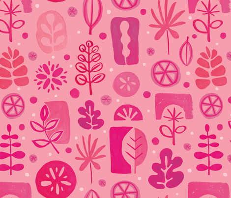 Abstract Garden fabric by lebski on Spoonflower - custom fabric