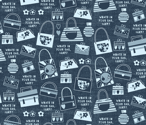 What's in your bag, baby? fabric by amel24 on Spoonflower - custom fabric
