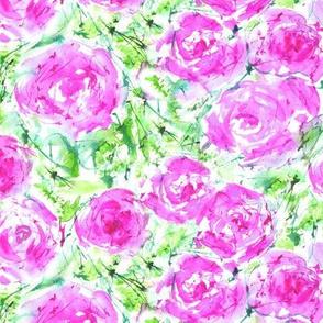 Roses bouquet, watercolor