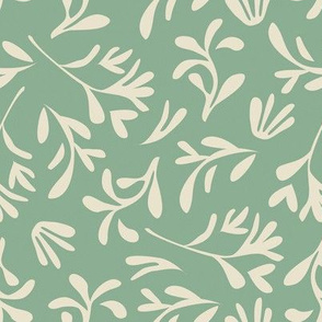 Simple leaf [green - light beige]