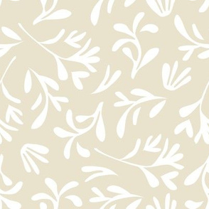 Simple leaf  [light beige]