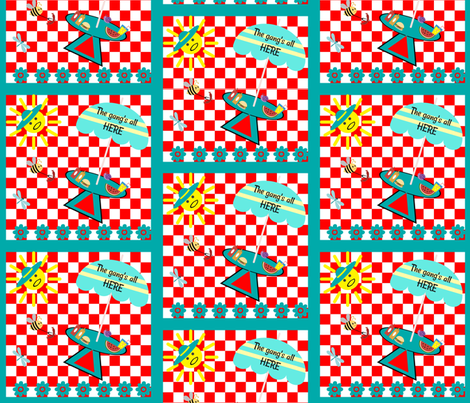 backyard cookout fabric by betz on Spoonflower - custom fabric