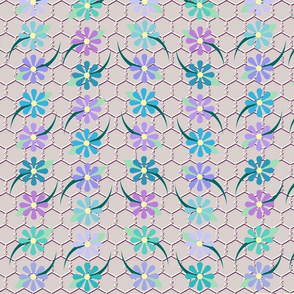 Floral Chickenwire Cool