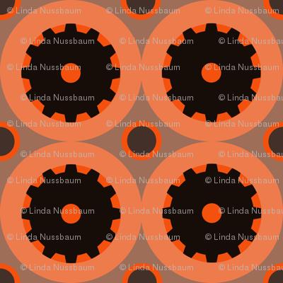 Spinning Wheels in Orange