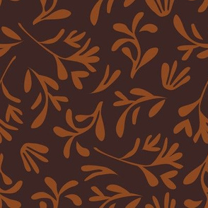 Simple leaf [brown]