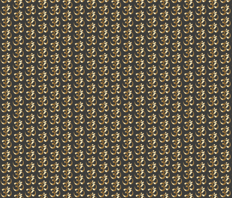 Gold OM on Charcoal ohm zen yoga fabric by jenlats on Spoonflower - custom fabric
