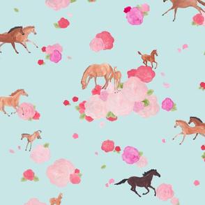 Galloping roses