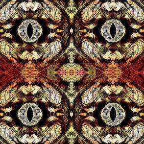 Sauron's eye damask
