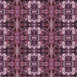 BN4 -  Marbled Mystery Tapestry in Purple - Burgundy - Lavender - Mauve - Small Scale