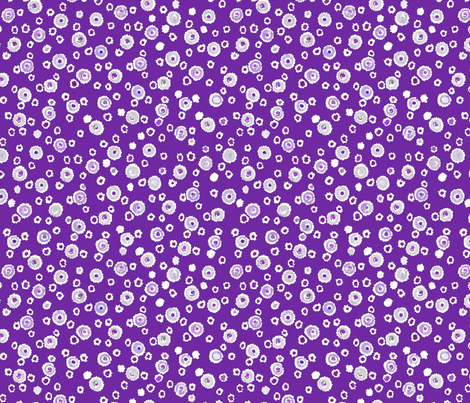 Deckled Dots - Relay Purple fabric by engravogirl on Spoonflower - custom fabric
