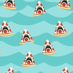 pizza shark - swimming  aqua