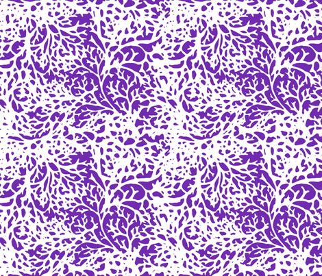 White Branches on Relay Purple fabric by engravogirl on Spoonflower - custom fabric