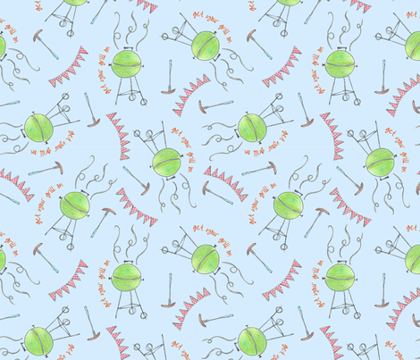 GetYourGrillOn fabric by ohmyheartgifts on Spoonflower - custom fabric