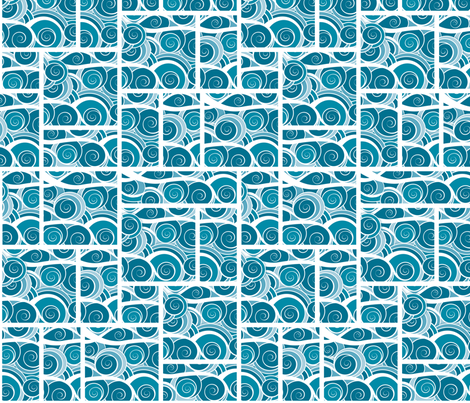 AquaSwirl fabric by ohmyheartgifts on Spoonflower - custom fabric